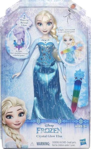 8e9d5d66e9 Kidcity Κούκλα Disney Frozen Crystal Glow Elsa B6163 - Hasbro
